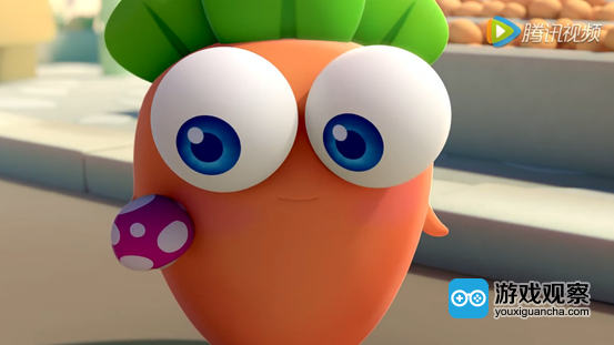 """保卫萝卜有意把游戏中的萝卜形象""""小波""""塑造成一个网红,而和蘑菇街这"""