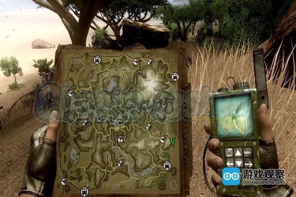 《孤岛惊魂2》,手中的地图