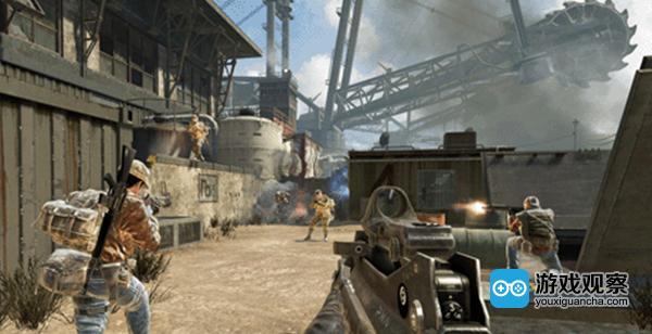 《使命召唤:黑色行动》Black Ops.背景中大型挖掘机是一个地标