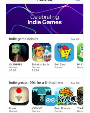 AppStore设永久独立游戏专区 优秀作品将获官方推荐