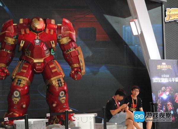 圖為Chinajoy展會期間的《漫威格斗》鋼鐵俠角色