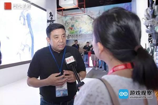 网元圣唐公司CEO孟宪明先生在接受央视采访