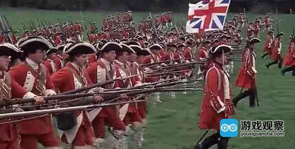 """""""排队枪毙""""是18、19世纪欧洲常见的步兵战术"""