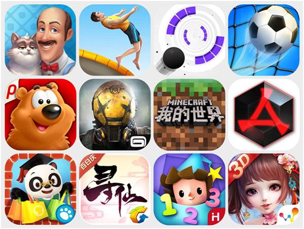 8-9月手游主宰中国及全球App Store首月下载量TOP30