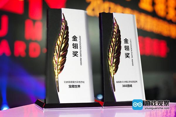 360游戏荣获「最具影响力移动游戏渠道商」