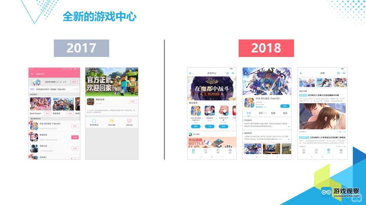 2018年游戏中心全面开放,让用户自己选择产品