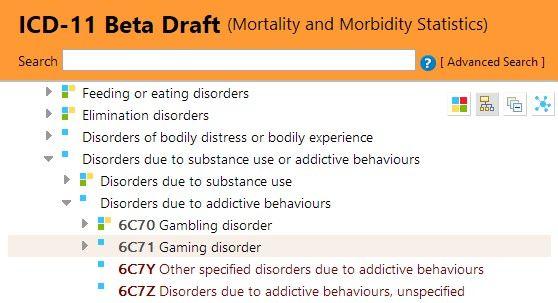"""""""游戏障碍""""在ICD-11被列为""""成瘾行为障碍""""之一"""