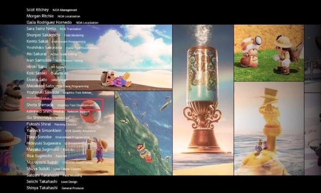 在《超级马里奥:奥德赛》的ED中能看到岛田的名字