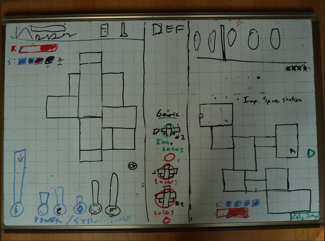 《超越光速》早期游戏设计图