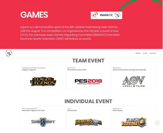 六款游戏入选雅加达亚运会电子体育表演项目
