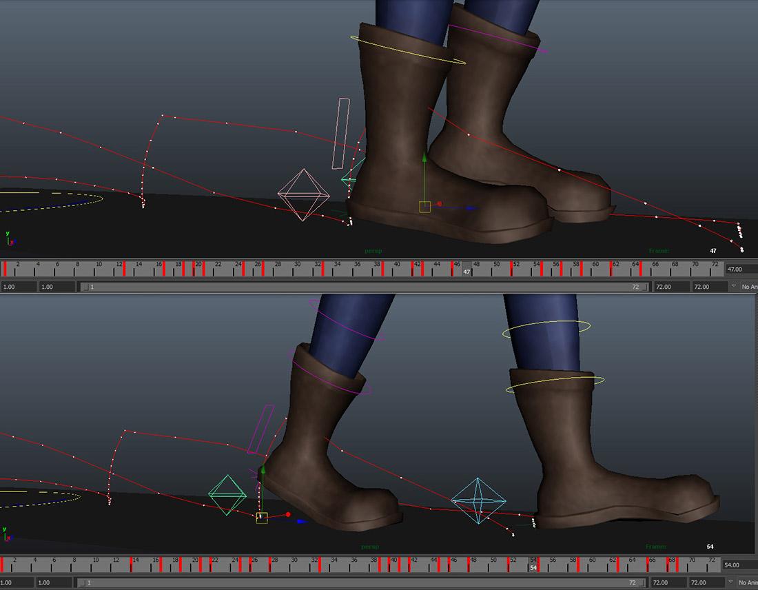 用MAYA让游戏角色的动作显得更真实的方法