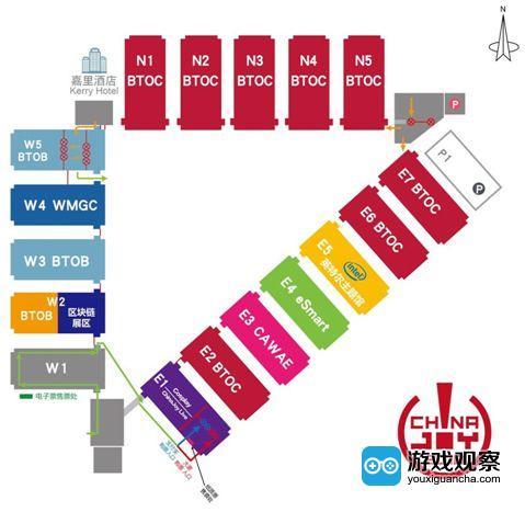 2018ChinaJoy 展馆平面图