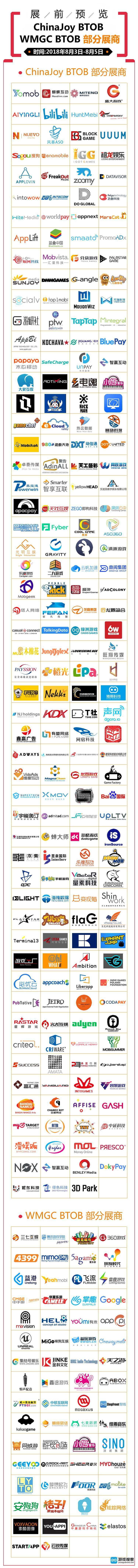 2018年第十六届ChinaJoy展前预览(BTOB篇)正式发布