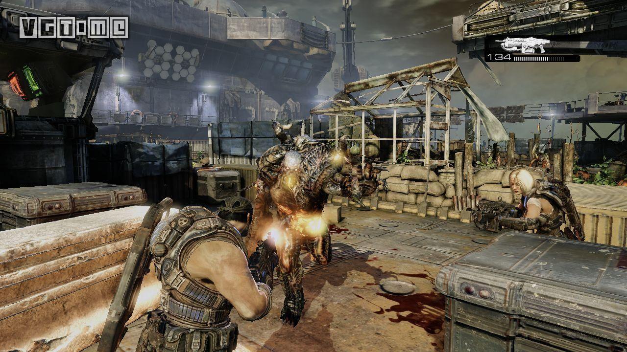 在2006年,《战争机器》的画面表现是很突出的