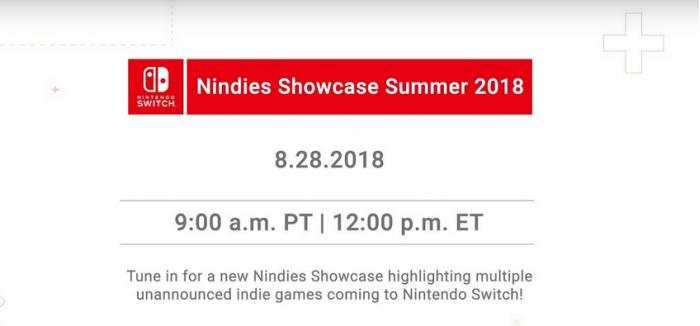 美国任天堂将于8月28日举行独立游戏夏季发布会