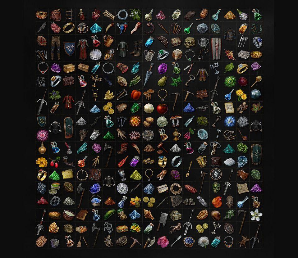 《巫师3》中的有大量可以捡拾的物品