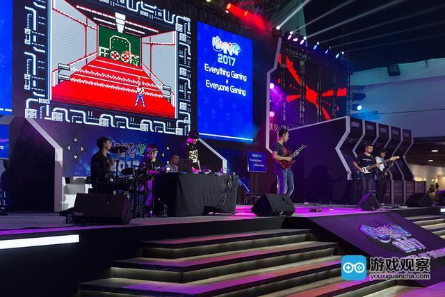 2017 WePlay舞台游戏速通表演与现场乐队LIVE的结合