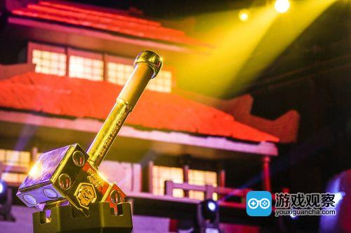 象征中国冠军的黄金战锤