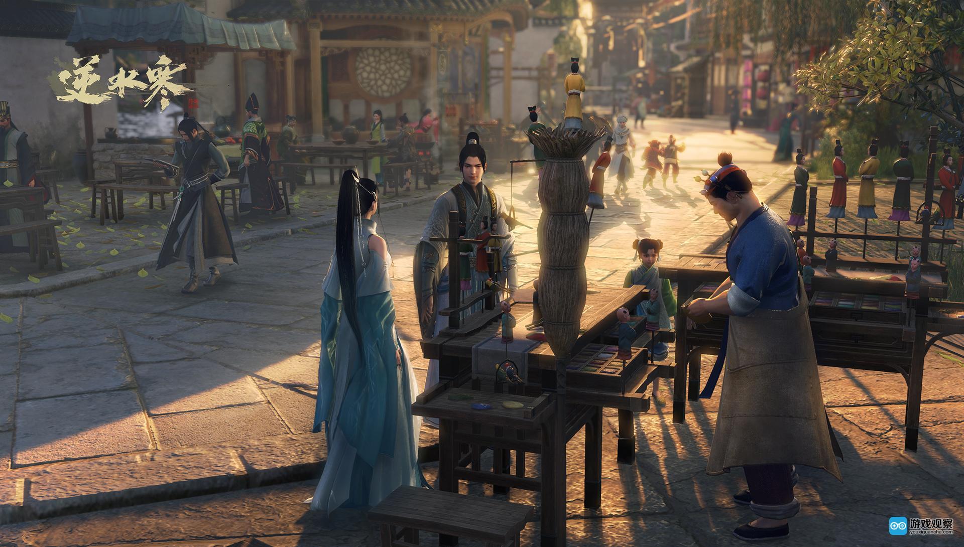 《逆水寒》将推出番外动画 人物设定草图公布