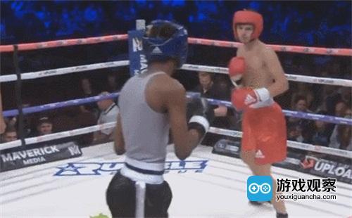 拳击运动员比赛中秀堡垒之夜尬舞