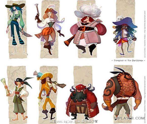 美工分享游戏人物角色原画设计的20个技巧