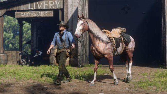 《荒野大镖客2》当中的马匹