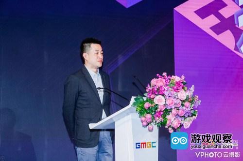 日本SEGA互娱产品研发部一部的副部长渡边先生发表讲话
