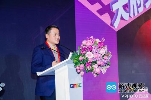 多酷游戏CEO詹旭敏先生发表讲话