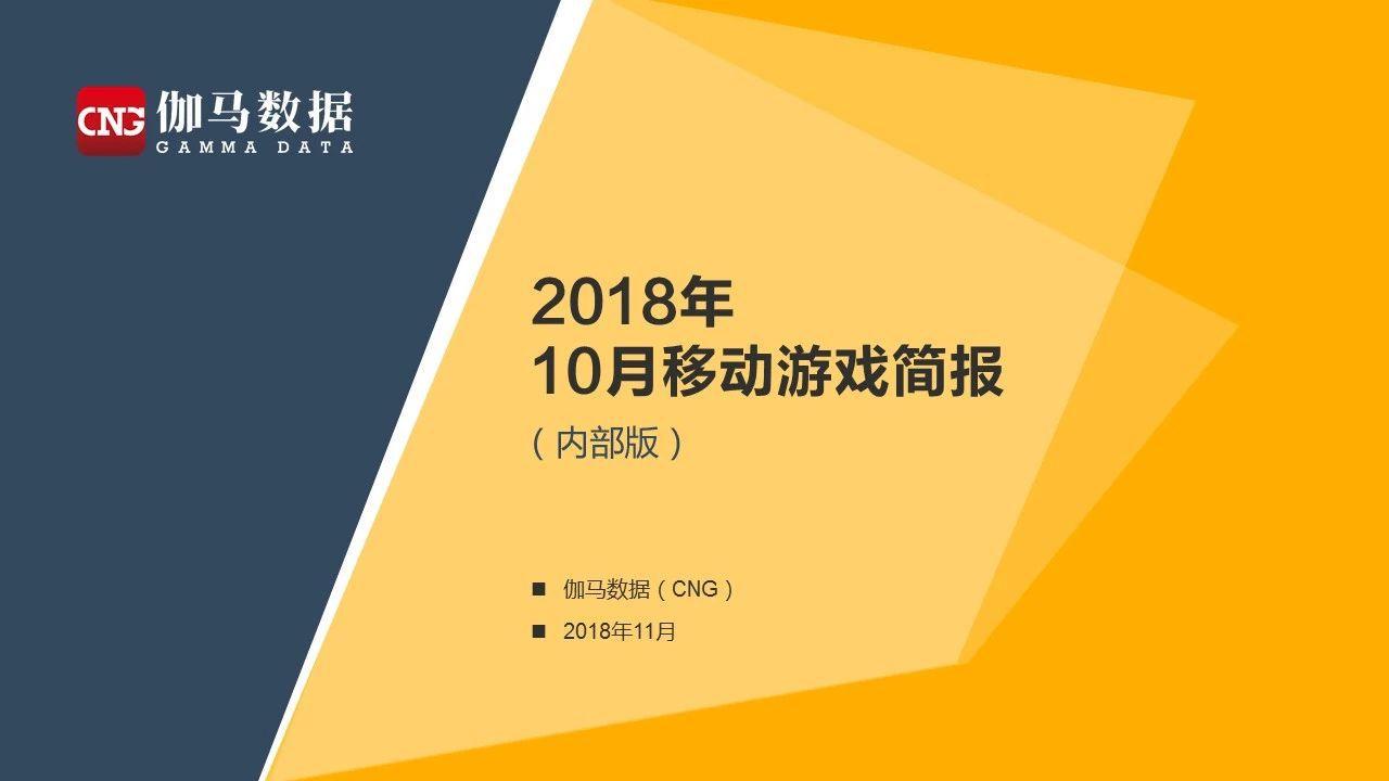 伽马数据10月简报:新游惨淡 买量下降 Q4又要凉