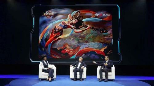 腾讯集团副总裁、腾讯影业CEO程武与敦煌研究院院长王旭东在主论坛进行对话