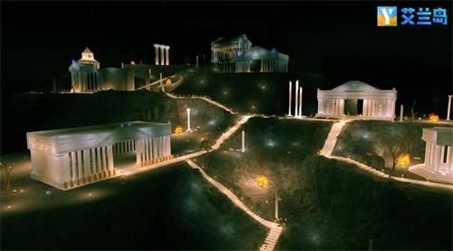 """首届创作设计大赛中玩家搭建还原的""""圣斗星矢黄金十二宫"""""""