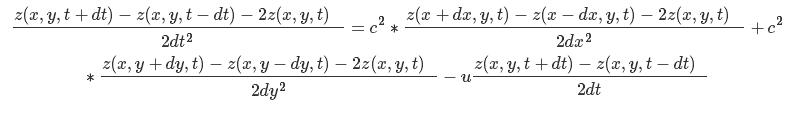 计算液体表面平移