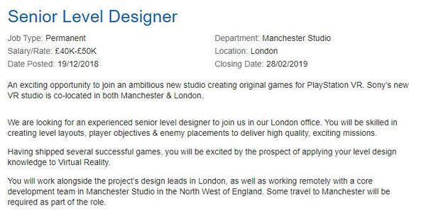 Manchester Studio的招聘说明
