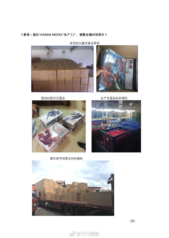 万代南梦宫继续控告中国仿冒高达模型厂商