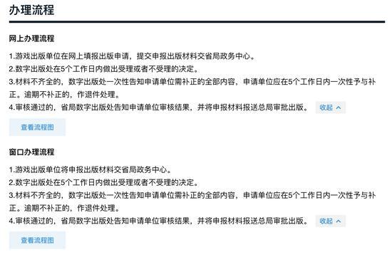 广东政务服务网披露的出版国产网络游戏作品审核流程